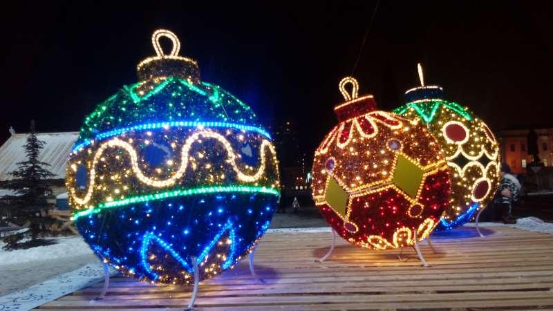 Новый год в Самаре шары