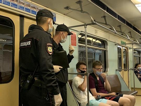 в самарском метро полицийские